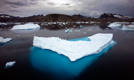 Sea ice in the Arctic melting