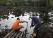 Oil spill in Oloibiri Town, Niger Delta