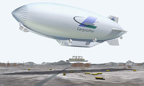 airship freight carrier : CL160 from German company CargoLifter