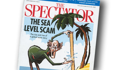 The Spectator front cover with the headline The Sea Level Scam