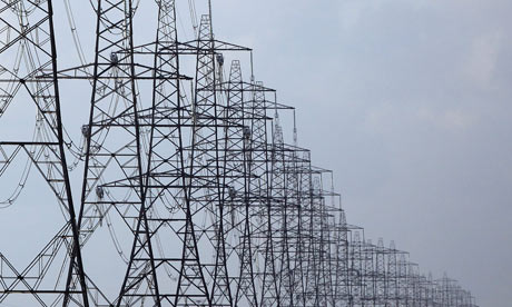 Duncan : Q&A : Electricity : pylons running across Romney Marsh