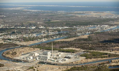 Damian blog : Aerial view of the Oyster Creek  nuclear power plant