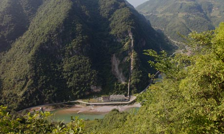 One of hydro-electric power plants built within Shengnongjia natural reserve, Hubei province, China