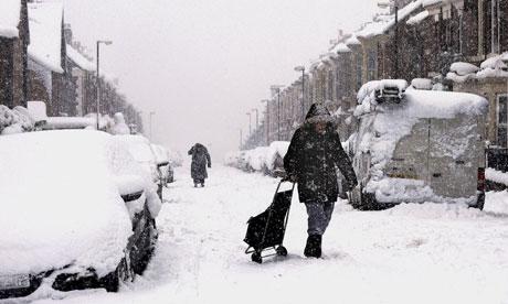 Arctic sea ice : Winter weather : Roads around Newcastle were blocked by deep snow