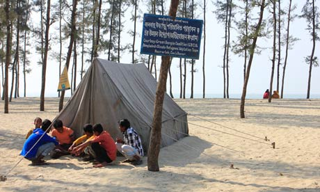 The island of Kutubdia in the Bay of Bengal