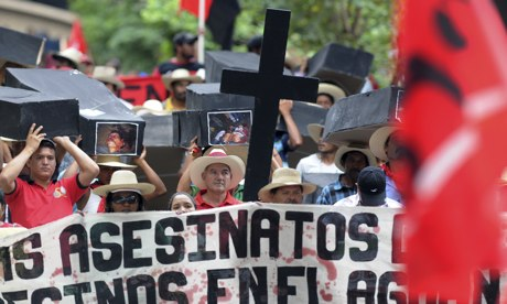 Members of the Peasant Unified Movement of Bajo Aguán, Honduras