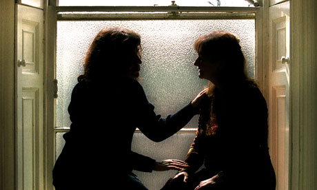 A female rape victim receives counselling
