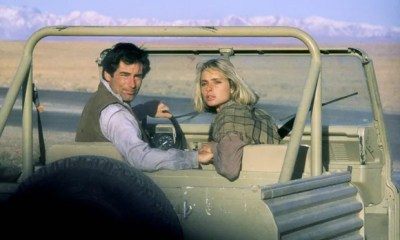 Maryam d'Abo stars alongside Timothy Dalton in The Living Daylights