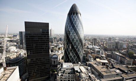 Norman Foster's 30 St Mary Axe – AKA the Gherkin.
