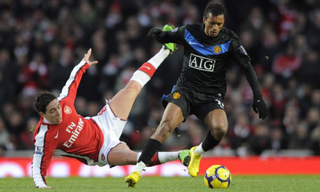 Nani, Arsenal v Manchester United