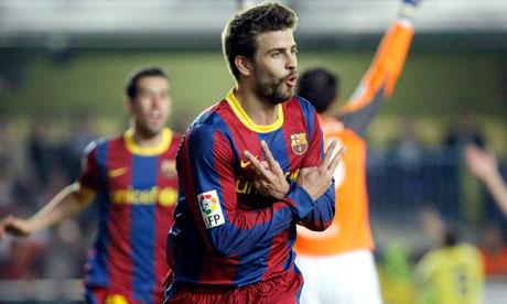 Gerard Pique Villarreal vs Barcelona