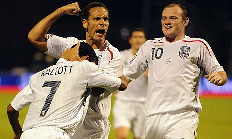 Walcott, Ferdinand and Rooney