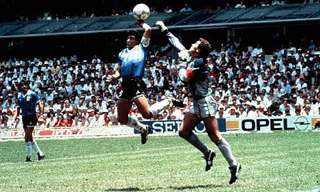 Maradona and the hand of God