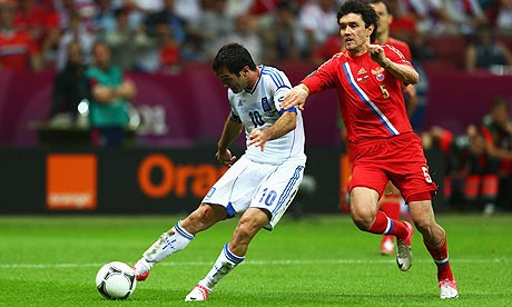 Euro 2012: Giorgos Karagounis avoids Greece exit and makes Russia pay | Football | The Observer