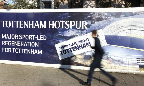 The site of Tottenham's new ground