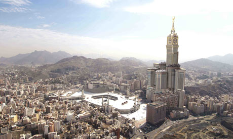 An artists impression of the proposed super-hotel in Mecca. Photograph: Raffles Hotels and Resorts