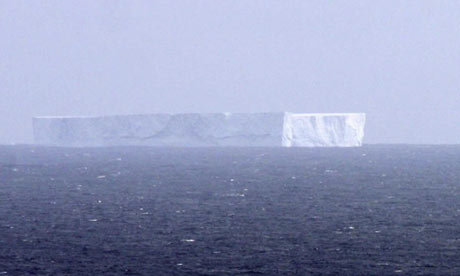 A large iceberg spotted off Macquarie Island