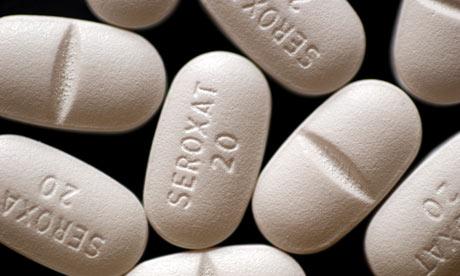 Seroxat antidepressant pills.