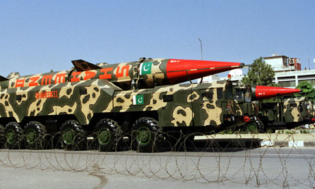 The Shaheen II missile during a military parade in Islamabad.