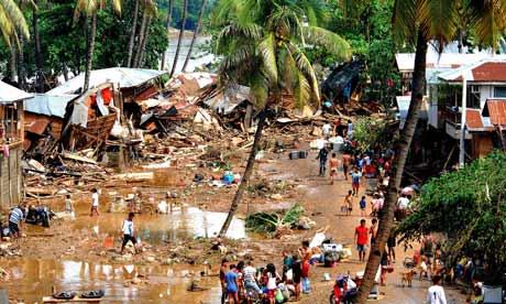 rampaging flood waters in Cagayan de Oro