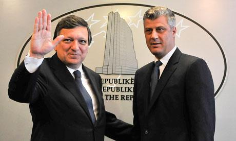 José Manuel Barroso and Hashim Thaci