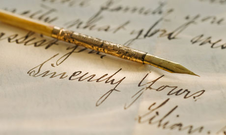 Antique pen and handwriting. Image shot 2009. Exact date unknown.
