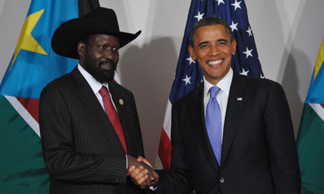 Barack Obama and Salva Kiir Mayardit