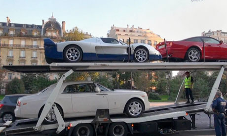 Supercars impounded in Paris