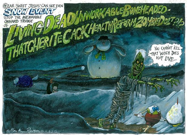 Martin Rowson's NHS zombie bill