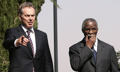 Tony Blair and Thabo Mbeki in Pretoria in 2007