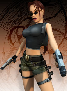 Lara Croft in 2002.
