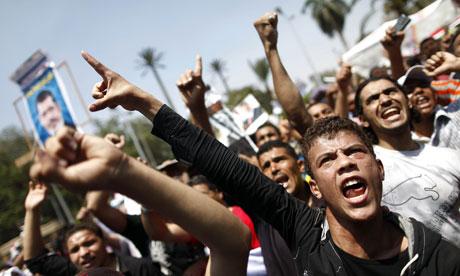 Egyptian supporters of Mohamed Morsi