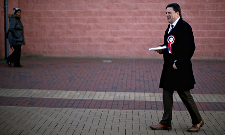 Nick Griffin campaigning for the BNP