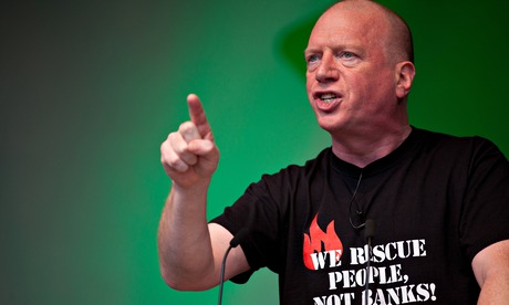 Matt Wrack, general secretary of the Fire Brigades Union, at the TUC's rally in Hyde Park on 18 Octo