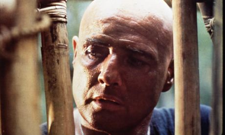 Marlon Brando as Colonel Kurtz in Francis Ford Coppola's film Apocalypse Now, inspired by Heart of D