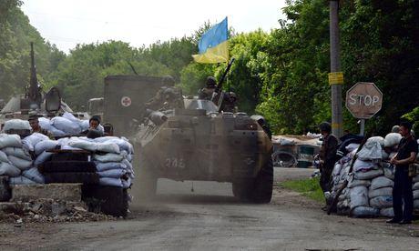 Ukrainian troops in Slavyansk