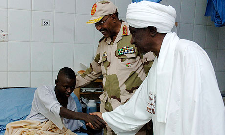 Sudan's vice-president, Ali Osman Mohamed Taha visiting Wounded soldiers at Khartoum hospital