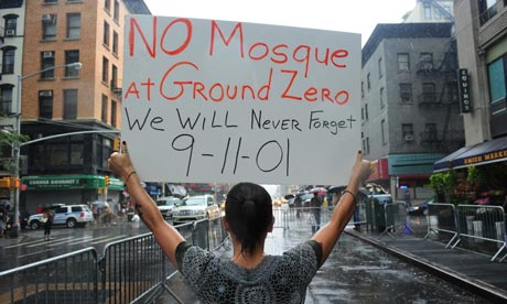 Rally against proposed 'Ground Zero Mosque',  New York, America -  22 Aug 2010