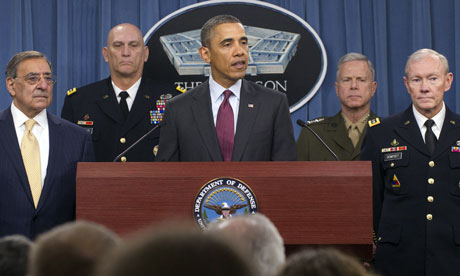 Barack Obama at the Pentagon