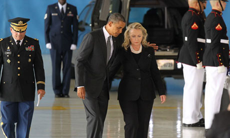Barack Obama and Hillary Clinton, Libya
