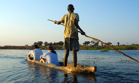 Traditional mokoro logboat, Botswana
