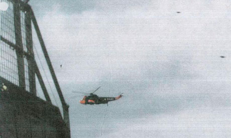 helicopter with ufo