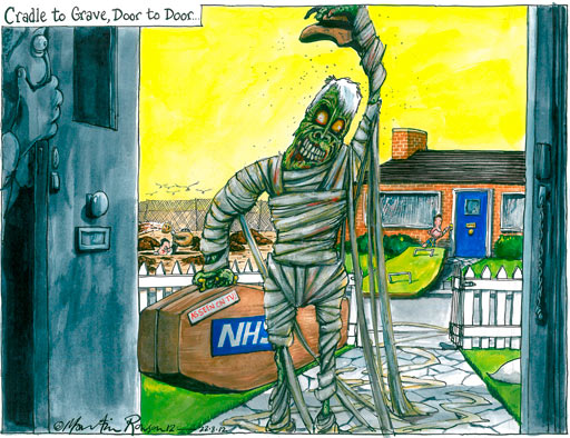 22.08.2012: Martin Rowson on Andrew Lansley and the NHS