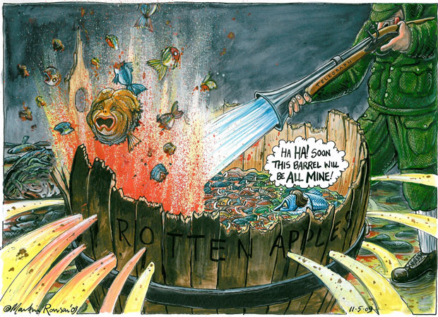 11.05.09: Martin Rowson on the Telegraph and MPs' expenses