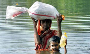 Bangladeshi flood victim