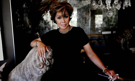 Diahann Carroll, actress, at home in Beverley Hills