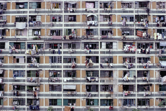Gallery China then and now: Crowded Apartment Building in Hong Kong