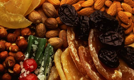 Assortment of dried fruit and nuts