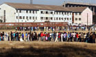 Voters line up to cast their ballots in June 2008 in Harare, Zimbabwe.