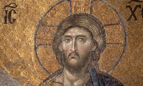 Mosaic of Jesus Christ in the Hagia Sofia, Istanbul